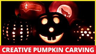 Pumpkin Carving with Power Tools Creative Pattern and Template Ideas