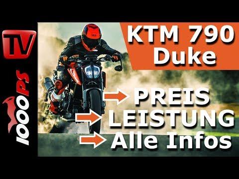 KTM 790 Duke 2018 - Preis, Leistung, A2 Tauglichkeit - Alle technische Daten im Überblick
