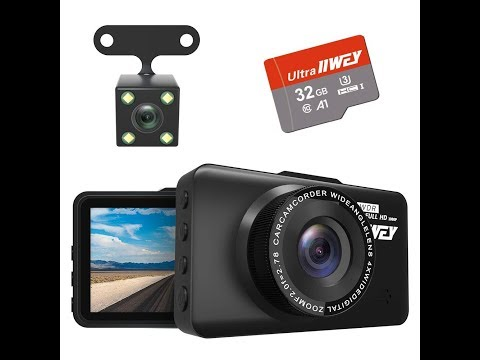 Dual Dash Cam Front And Rear FHD 1080P With Night Vision And SD Card Included By IIwey
