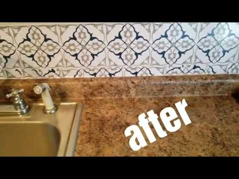 Magic Gel Tiles Kitchen Wall Makeover Family Dollar Store Youtube