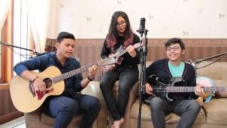 Take on Me (a-ha) - acoustic cover (guitar - ukulele - bass) by Adrian-Karina-Victorio Han