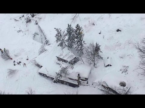 One dead, up to 30 missing, after avalanche hits central Italian hotel