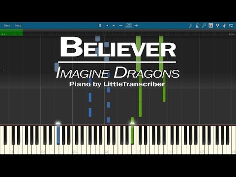 Imagine Dragons - Believer (Piano Cover) by LittleTranscriber