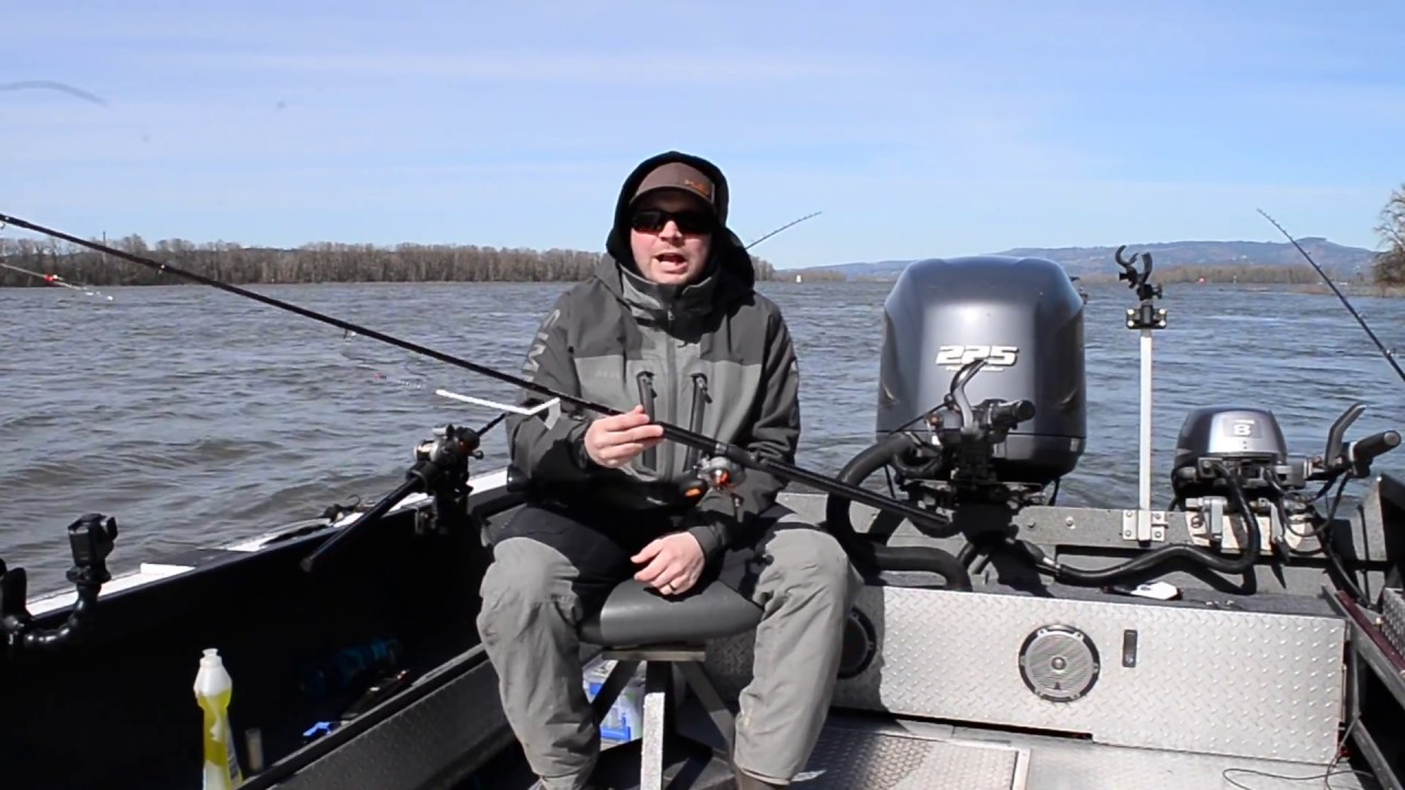 How to rigging columbia river salmon trolling set up for Salmon fishing setup