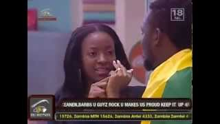 Keita Rejects Zainab's Kiss On Big Brother Africa StarGame.flv