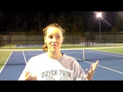 Dutch Fork Girls Tennis' Celine Robinson