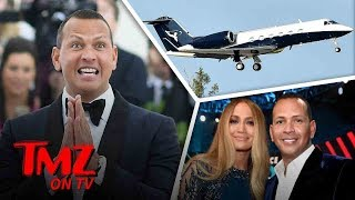 A Rod Got A New Private Jet To Fly JLo Around! | TMZ TV