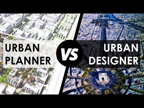 DIFFERENCE Between URBAN PLANNER and URBAN DESIGNER, ROLE and RESPONSIBILITIES with PDF NOTES