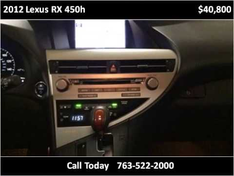 2012 Lexus RX 450h Used Cars Golden Valley MN - YouTube