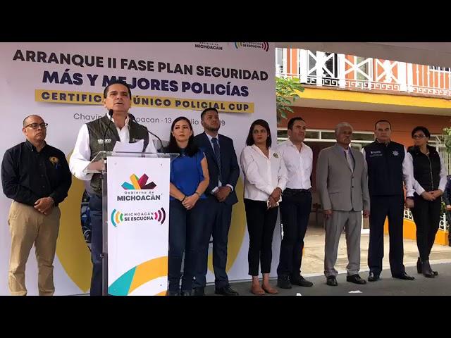 Plan Integral de Seguridad en Chavinda - Gobierno de Michoacán