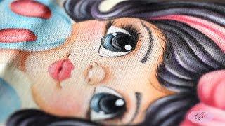 Pintura em tecido – Eliane Nascimento: Cabelinho