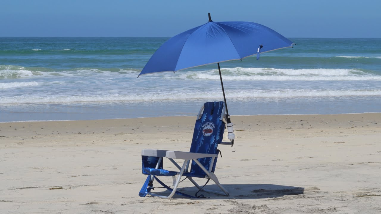 beach chair with umbrella Beach Hacks   PVC Beach Chair Umbrella Holder   YouTube beach chair with umbrella