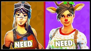 10 SKINS WE ALL NEED In FORTNITE! (Ce sont si rares!)