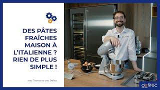 La recette des pâtes fraîches maison avec machine : Thomas vous explique comment faire