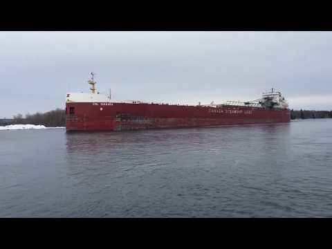 Great Lakes Cargo ship in St. Mary's River