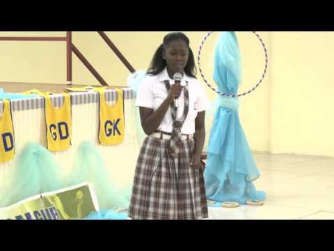 10 year old Takiyah Kinsale wins Netball Quiz Competition, Dec. 15. 2013. # 1. Trinidad & Tobago