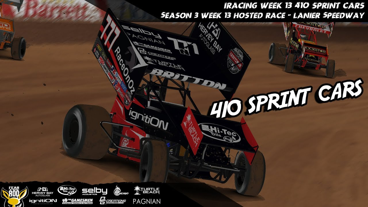 Iracing 410 Sprint Cars Week 13 Hosted Race Lanier Speedway