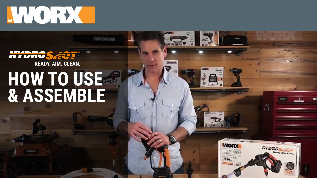 worx hydroshot how to use assemble [ 1280 x 720 Pixel ]