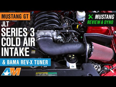 2005-2009 Mustang GT JLT Series 3 Cold Air Intake and BAMA Rev-X Tuner Review & Dyno