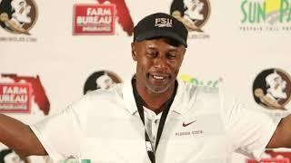 FSU head coach Willie Taggart talks victory over Boston College