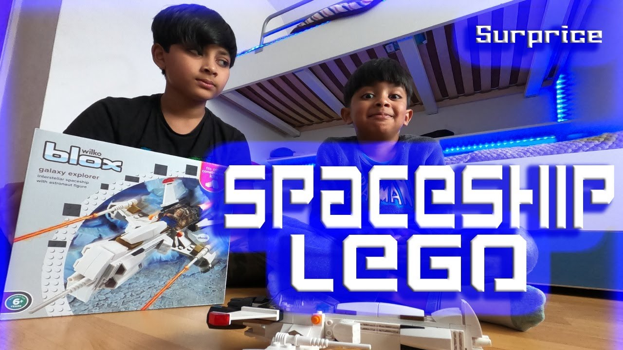 Spaceship Lego, Nephews Building Spaceship Lego. 4K