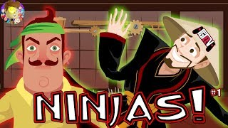Gambar cover Duddz Ninja Academy Episode 1 (Hello Neighbor learns Karate)