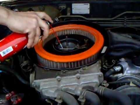 1988 Mazda B2200 Carb cleanin' - YouTube