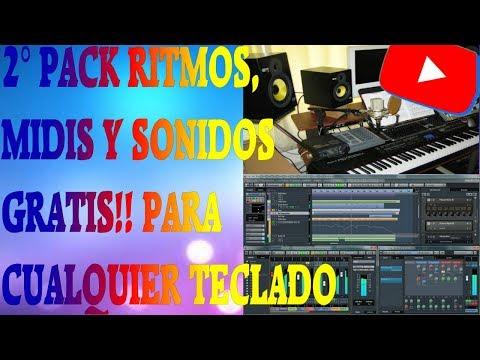 PACK 2 RITMOS, SONIDOS Y MIDIS GRATIS!!! para tu teclado de musica.