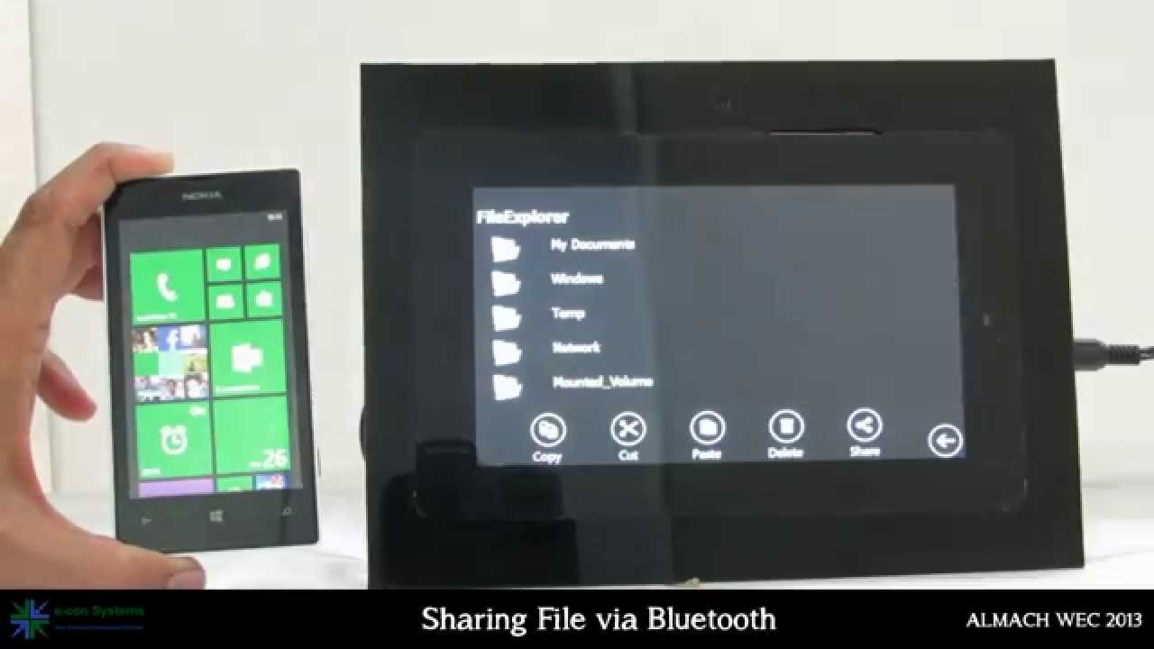 Bluetooth file transfer in Windows Embedded Compact 2013 custom Shell