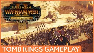 44 minutes of NEW Tomb Kings gameplay | Total War: Warhammer 2