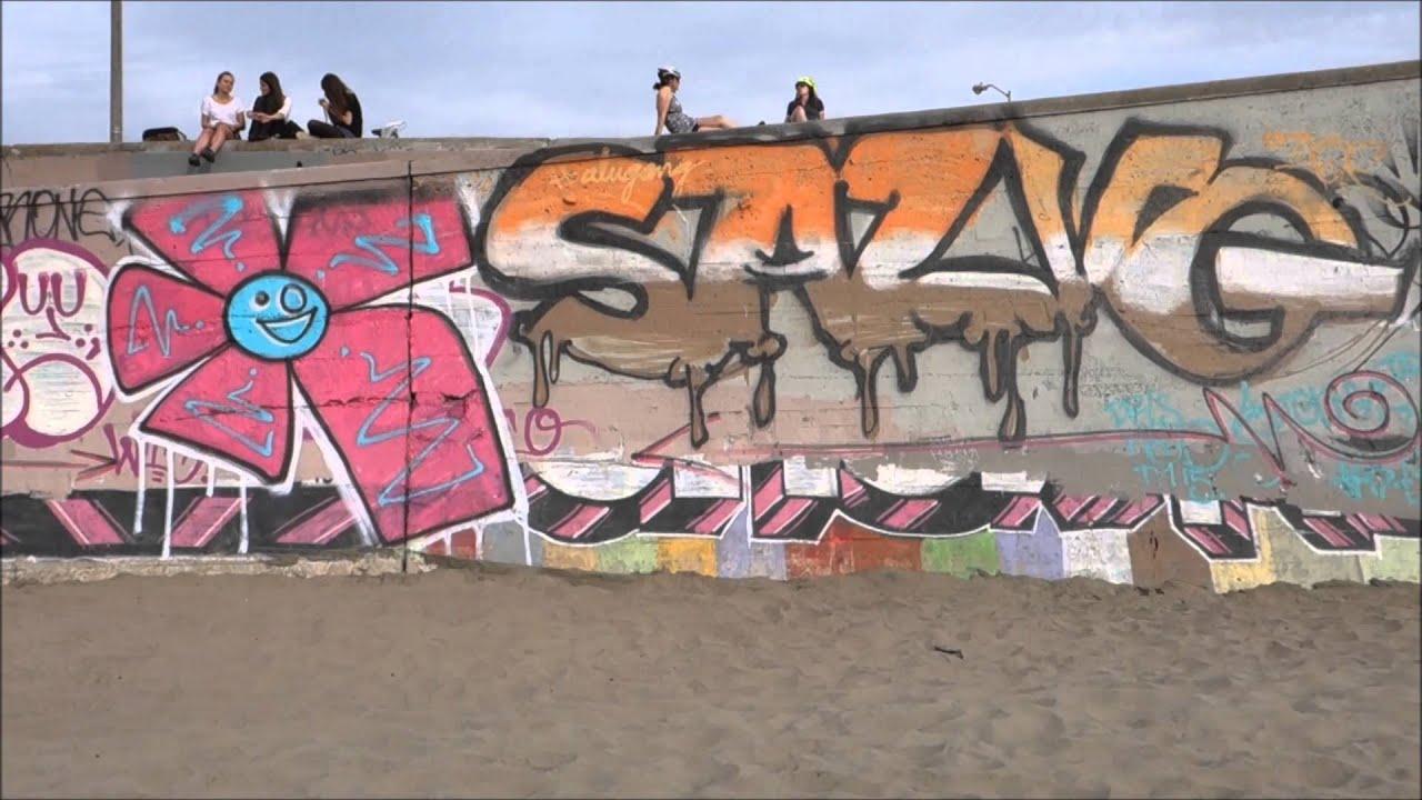 San francisco ocean beach graffiti 2015 the whole seawall