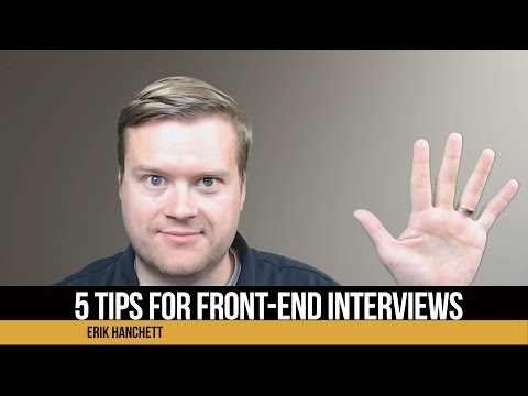 5 Tips For Front-End Interviews