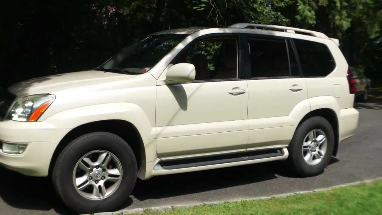 2003 lexus gx470 for sale pearl white 3rd row seat moon roof heated seats all the goodies youtube. Black Bedroom Furniture Sets. Home Design Ideas