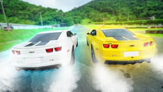 RACHA - MEU CAMARO vs CAMARO DO RENATO !!