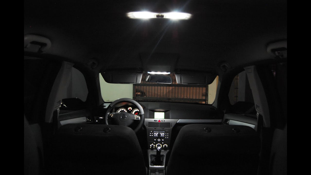 Opel Astra H interior LED color conversion; reinstallation - YouTube
