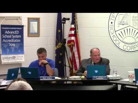 Tipton Community School Corporation - August Board Meeting - Public Session