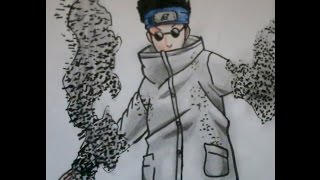 How to draw Shino from Naruto