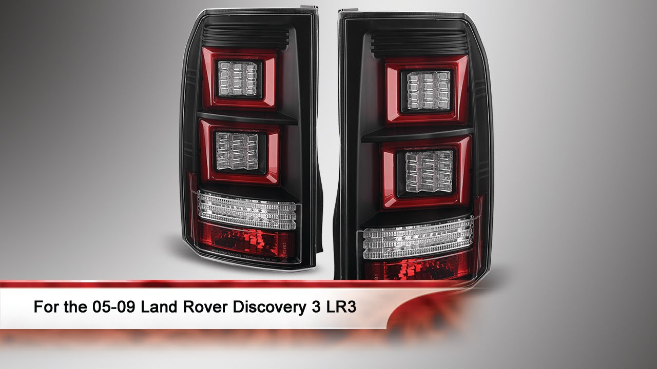 05 09 land rover discovery 3 lr3 light bar led tail lights. Black Bedroom Furniture Sets. Home Design Ideas