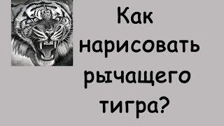 Как нарисовать рычащего ТИГРА?(Всем привет! Сегодня я расскажу Вам, как нарисовать рычащего, впечатляющего тигра! другие видео из рубрики..., 2016-01-06T04:25:32.000Z)