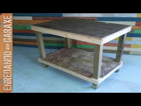 mesa de trabajo sencilla como hacerla simple work table