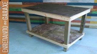 Mesa de trabajo sencilla, como hacerla. Simple work table