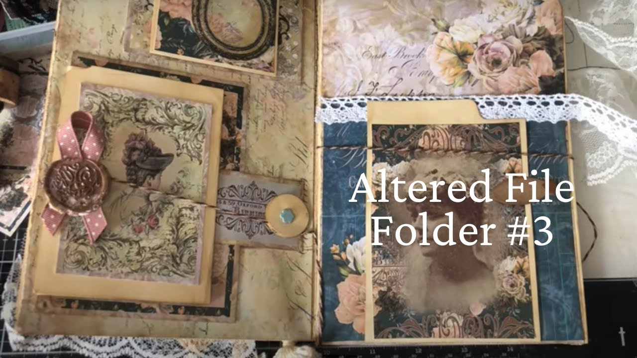 Melrose Garden Junk Journal Kit + Altered File Folder Pt 3