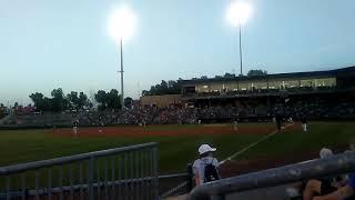 At the Kansas city T bones baseball game!