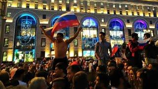 1 июля 2018 г Москва после победы сборной России над Испанией