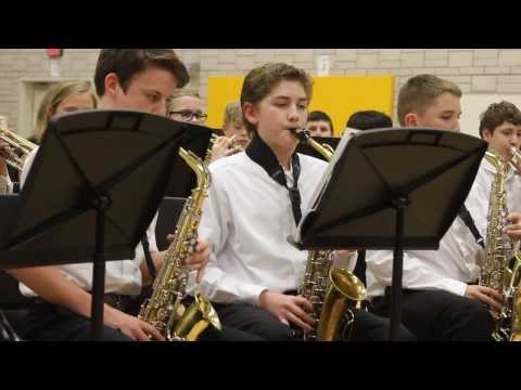 Isaac playing in the Rock Creek Middle School Jazz Band