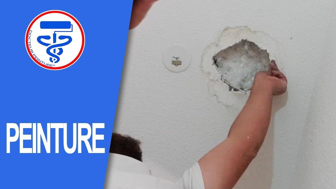 reboucher un trou au plafond apres un degat des eaux