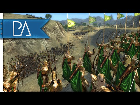 DEFENSE OF THE ELVES - Third Age Total War Mod Gameplay