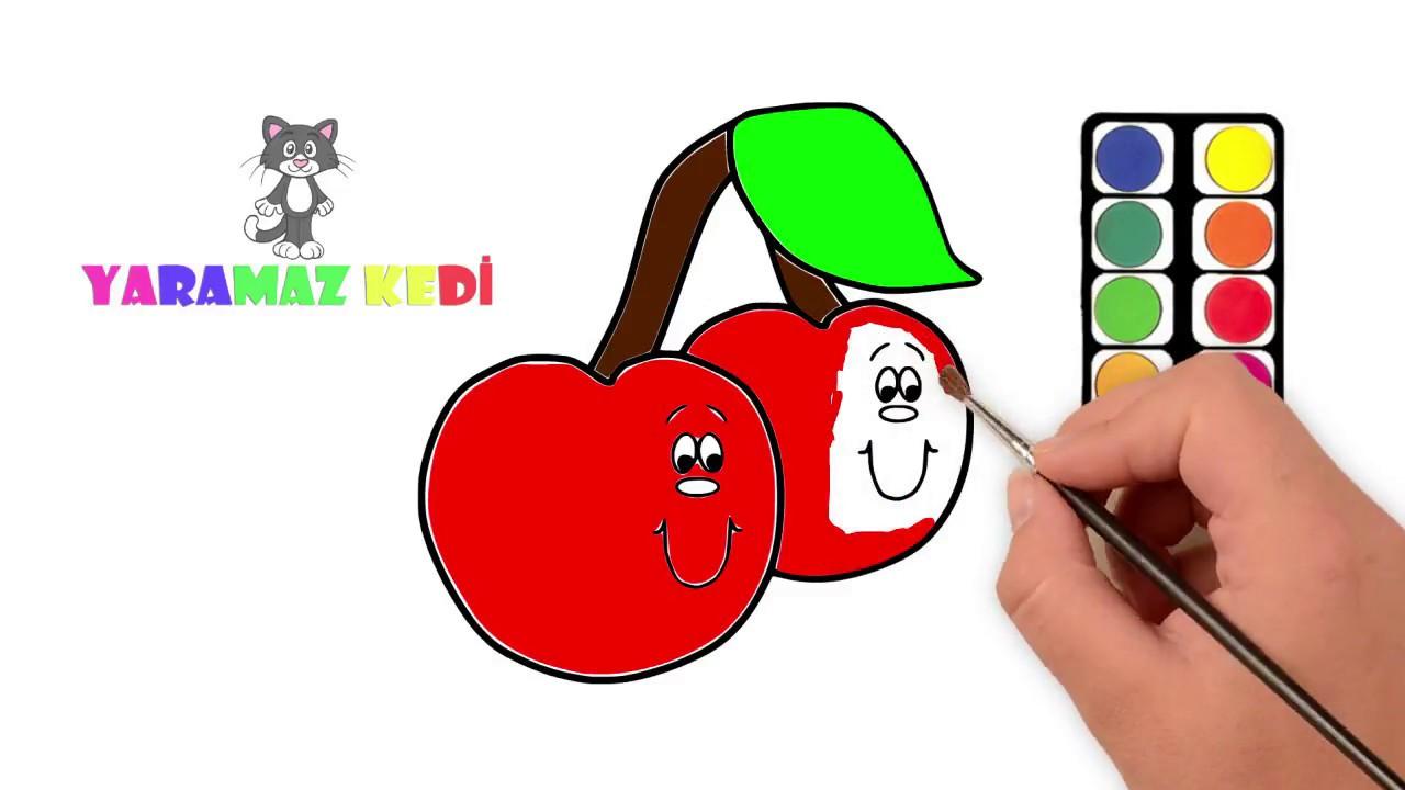 Yaramaz Kedilere Meyve Boyama Oyunu Serisi Elma Boyama Oyunu Youtube