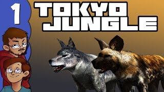 Let's Play Tokyo Jungle Co-op (Survival Mode) Part 1 - Lycaon and Wolf Take Over the World!