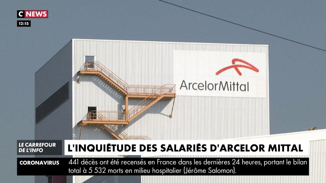 Reprise d'activité à Florange sur le site d'Arcelor Mittal, les salariés inquiets de la si